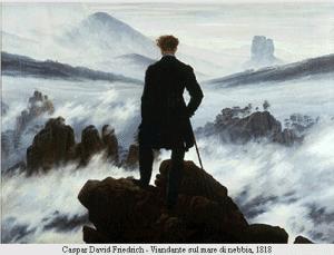 Friedrich - Viandante sul mare di nebbia 1818