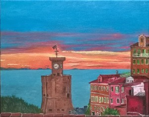 Rio Marina - Acrilico su tela - Barbara Calabi
